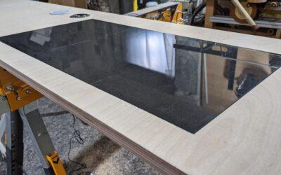 Schreibtisch mit Schminkbereich, nach Maß